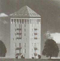 Wasserturm in dresden klotzsche 1936 ns architektur und for Architektur ns zeit